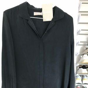 The Shirred Silk Shirt